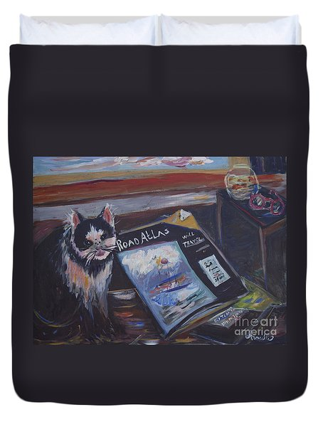 Tom Will Travel Duvet Cover by Avonelle Kelsey