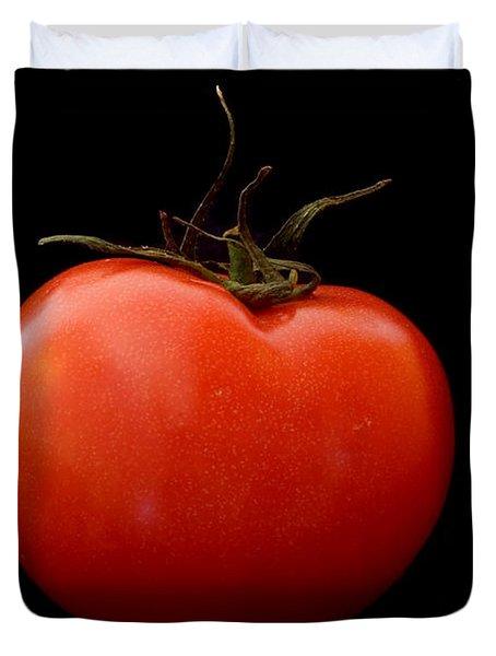 Tomato On Black Duvet Cover