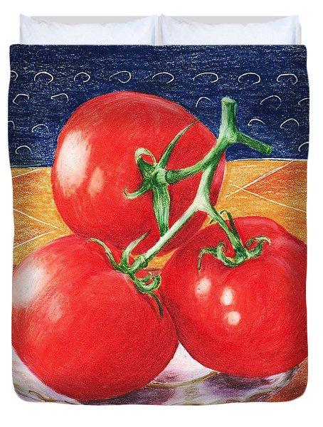 Tomatoes Duvet Cover by Anastasiya Malakhova