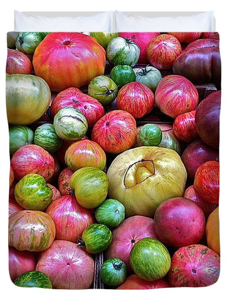 Duvet Cover featuring the photograph Tomatoes by Bill Owen