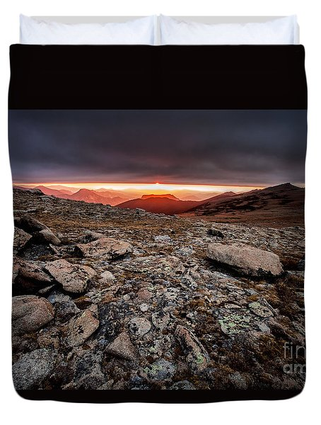 Tombstone Sunrise Duvet Cover