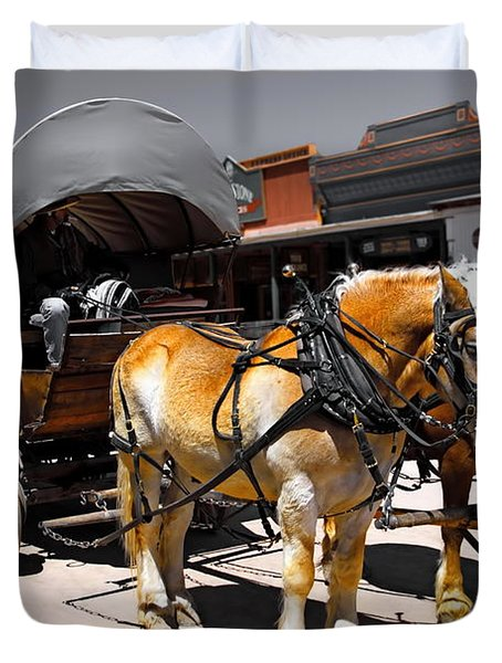 Tombstone Wagon Duvet Cover
