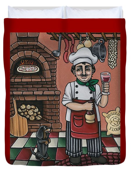 Tommys Italian Kitchen Duvet Cover