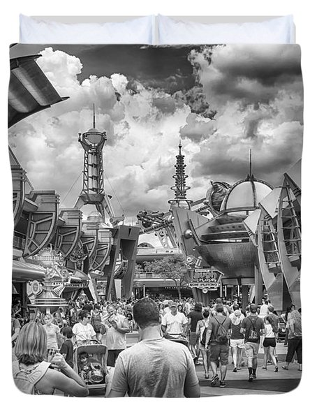Duvet Cover featuring the photograph Tomorrowland by Howard Salmon