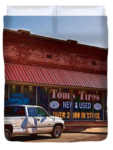 Tom's Tires Duvet Cover