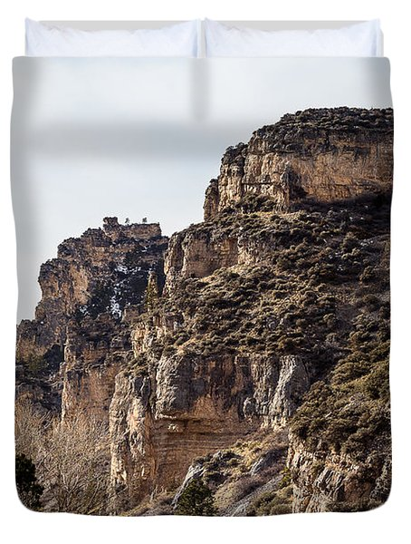 Tongue River Canyon Duvet Cover