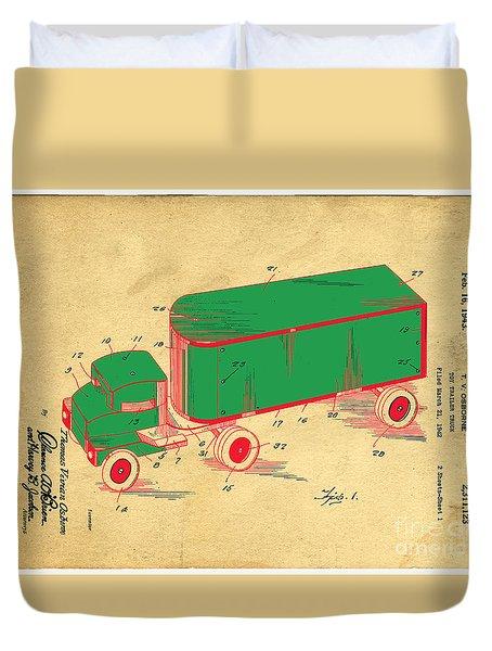 Tonka Truck Patent Duvet Cover