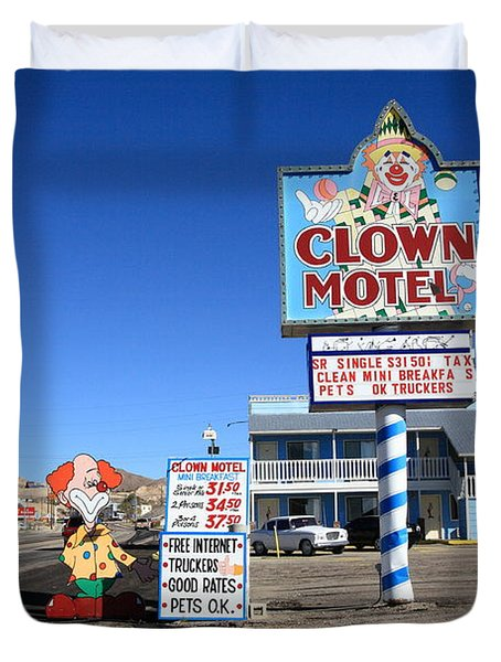 Tonopah Nevada - Clown Motel Duvet Cover