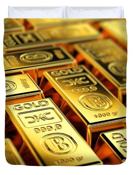 Tons Of Gold Duvet Cover