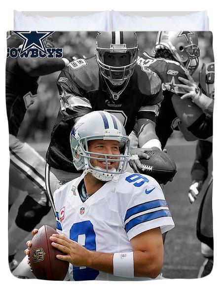 Tony Romo Cowboys Duvet Cover