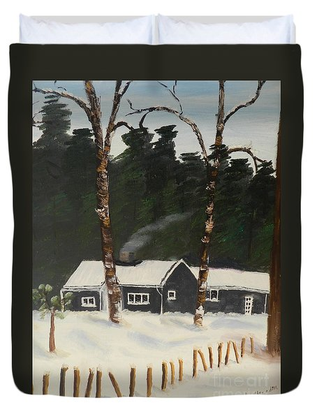 Tonys House In Sweden Duvet Cover