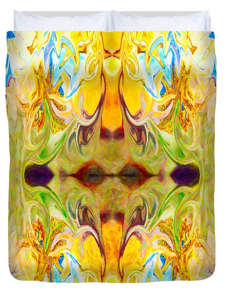 Tony's Tower Abstract Pattern Artwork By Tony Witkowski Duvet Cover by Omaste Witkowski