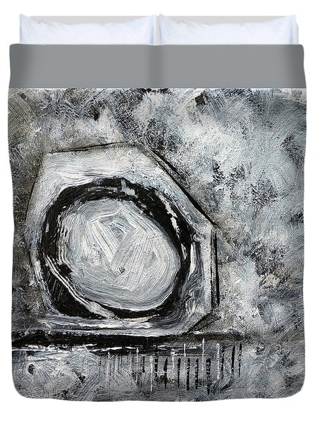 Duvet Cover featuring the painting Tool Time by Jim Whalen