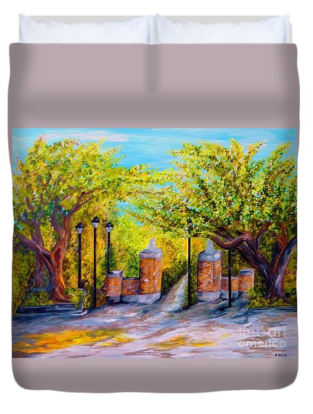 Toomer's Corner Oaks Duvet Cover by Eloise Schneider
