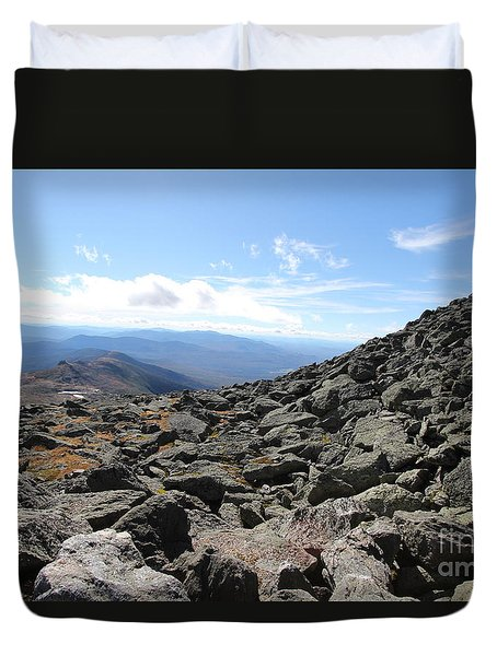 Top View Mt Washington Duvet Cover