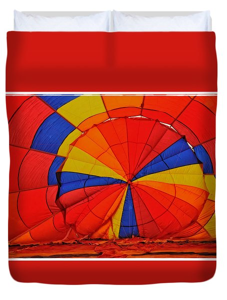 Duvet Cover featuring the photograph Top Of Balloon From Inside by Mike Martin