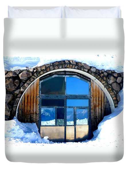 Top Of Germany Reflection Duvet Cover by The Creative Minds Art and Photography