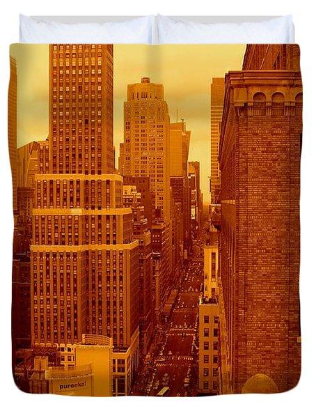 Top Of Manhattan Duvet Cover