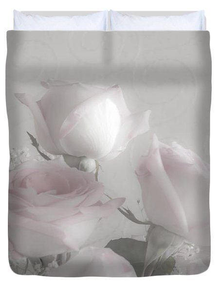 Top Of My Bouquet Duvet Cover by Sandra Foster