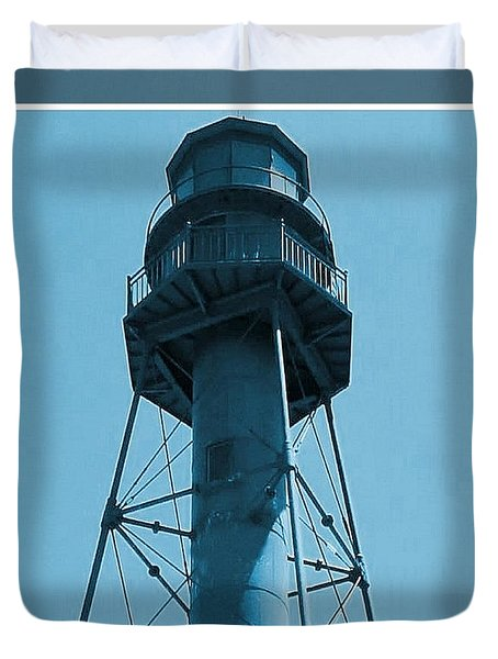 Duvet Cover featuring the photograph Top Of Sanibel Island Lighthouse by Janette Boyd