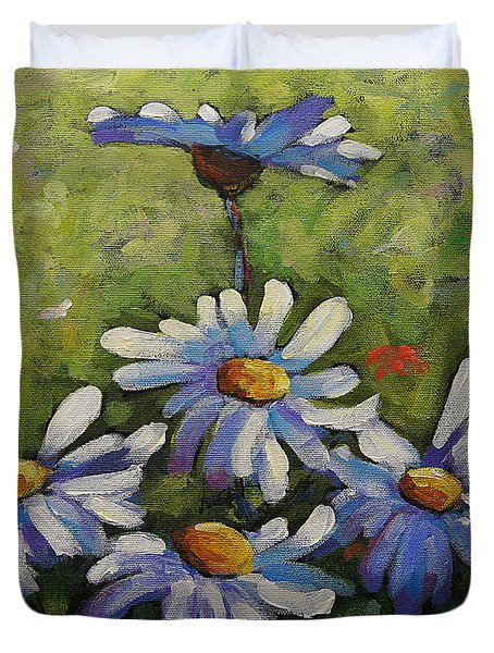 Top Of The Bunch Daisies By Prankearts Duvet Cover