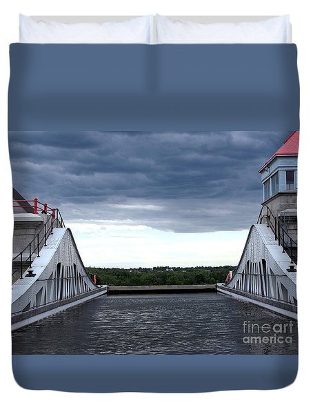 Top Of The Locks Duvet Cover