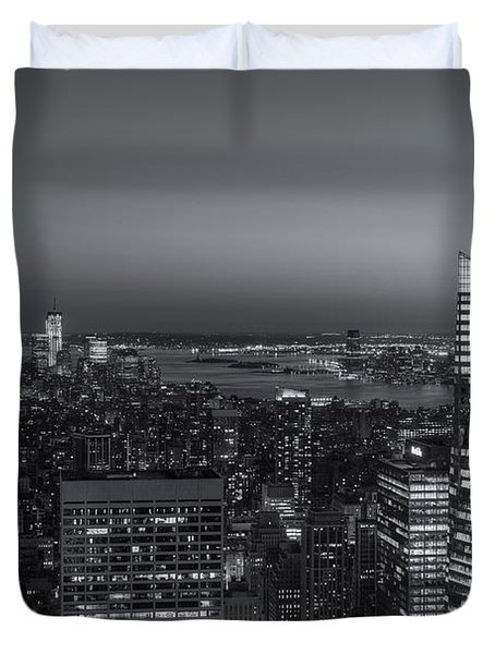Top Of The Rock Twilight V Duvet Cover by Clarence Holmes