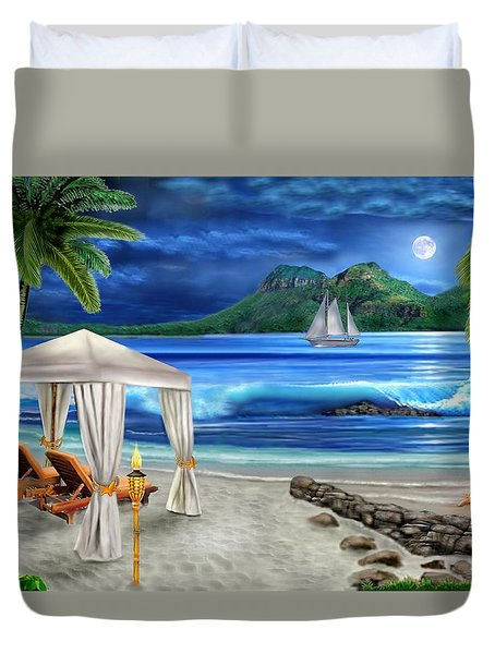 Tropical Paradise Duvet Cover by Glenn Holbrook