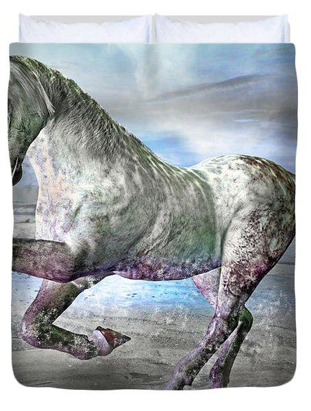 Topsail Gallop Duvet Cover