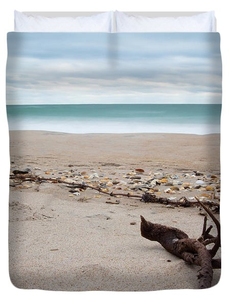 Topsail Island Driftwood Duvet Cover by Shane Holsclaw