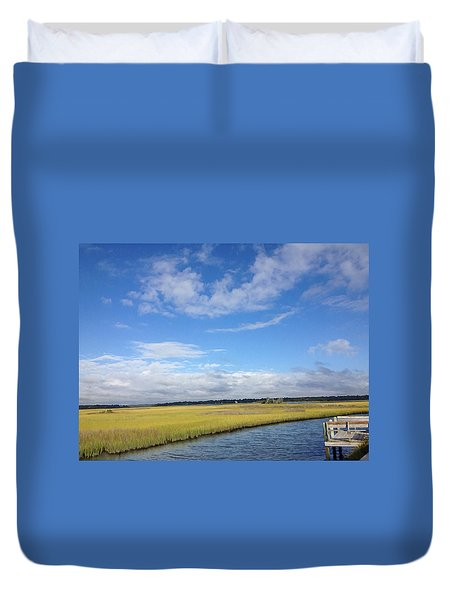 Topsail Island Icw Duvet Cover