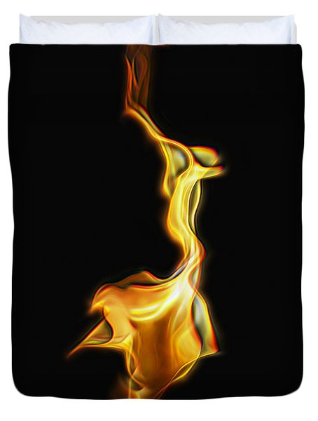 Torch In The Wind Duvet Cover