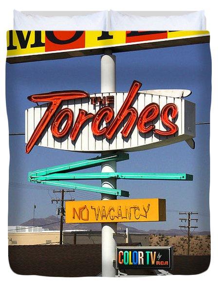 Torches Motel  Duvet Cover