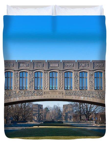 Torgersen Hall At Virginia Tech Duvet Cover