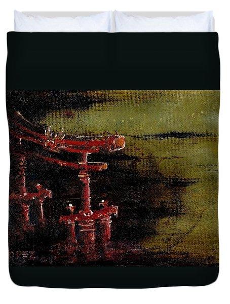 Torii Duvet Cover by Julio Lopez