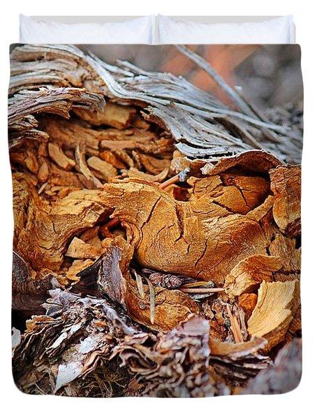 Torn Old Log Duvet Cover