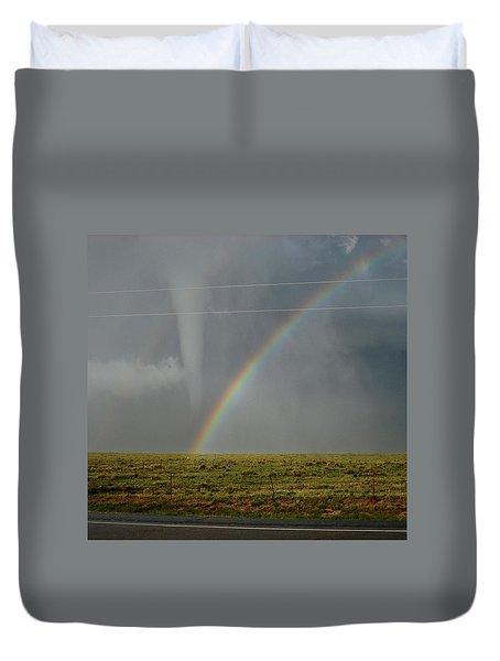 Tornado And The Rainbow Duvet Cover
