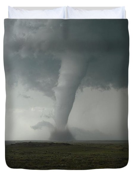 Tornado In The High Plains Duvet Cover