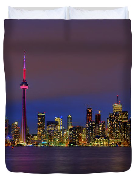 Toronto By Night... Duvet Cover