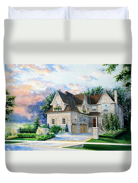 Toronto Family Home Duvet Cover by Hanne Lore Koehler