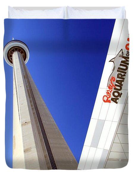 Toronto Landmarks Duvet Cover by Valentino Visentini