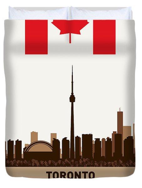 Toronto Ontario Canada Duvet Cover by Daniel Hagerman