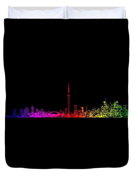 Duvet Cover featuring the photograph Toronto Rainbow by Brian Carson