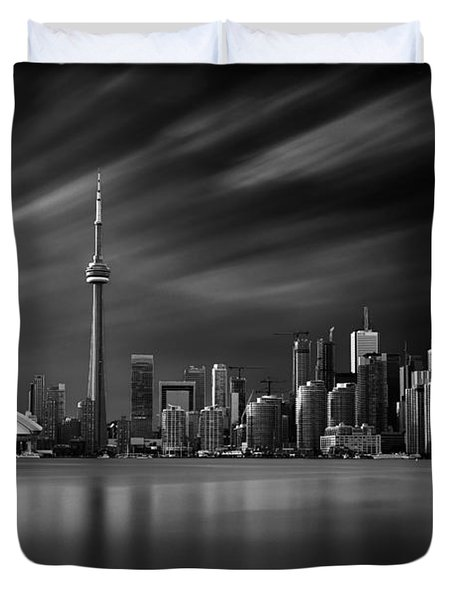 Toronto Skyline - 8 Minutes In Toronto Duvet Cover by Ian Good