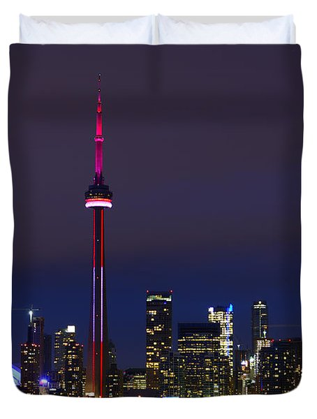 Toronto Skyline Duvet Cover by Tony Beck