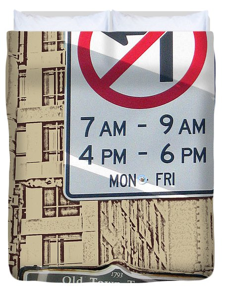 Toronto Street Sign Duvet Cover by Nina Silver