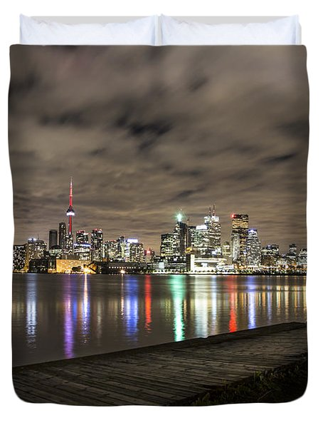 Toronto Sunset Duvet Cover by John McGraw