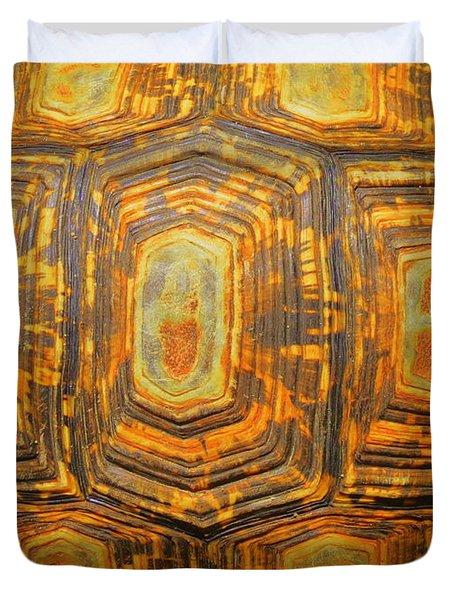 Tortoise Abstract Duvet Cover