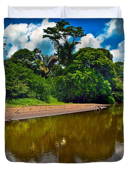 Tortuguero River Canals Duvet Cover by Gary Keesler