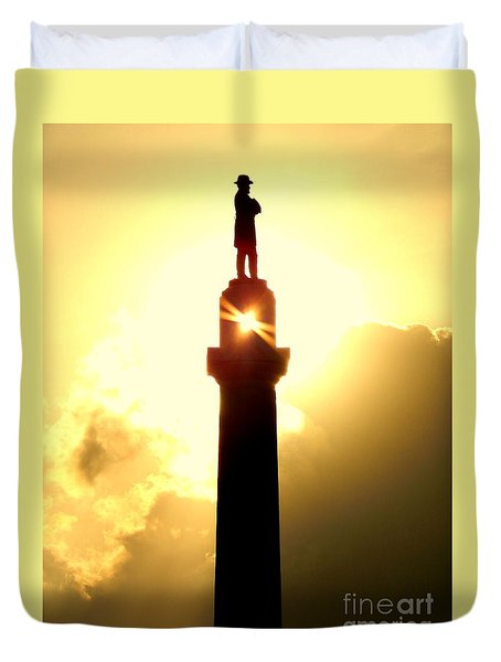 General Robert E. Lee And The Summer Solstice In New Orleans Duvet Cover by Michael Hoard